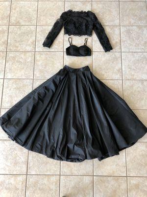 Black Three Piece Prom Dress Size 2 for Sale in Austin, TX