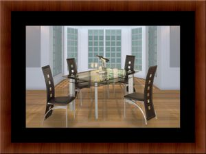 Glass dining table with 4 chairs for Sale in Rockville, MD