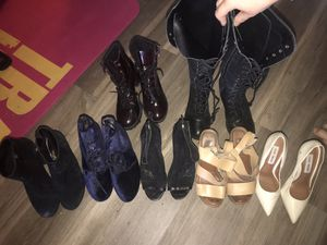 7 pairs of STEVE MADDEN Heels/Booties/boots High Quality size 7.5 and 6 for Sale in Los Angeles, CA