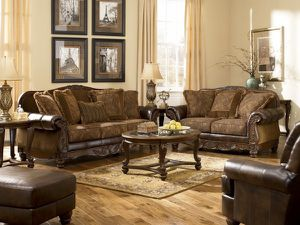 (JUST $54 DOWN ) Brand New Beautiful Ashley Sofa and Love Seat Set (Financing and Delivery available) for Sale in Carrollton, TX