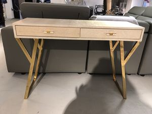 Asti console table cream with gold legs for Sale in North Bethesda, MD