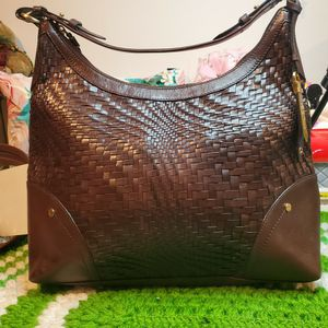 Authentic Woven Leather Cole Haan Hobo Bag for Sale in Bolingbrook, IL