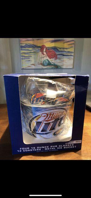 Free Miller Lite Party Bucket w/ 4 Miller Lite Glasses for Sale in Abingdon, MD