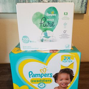 Pampers Swaddlers Diapers Size 6 & Pampers Baby Wipes for Sale in Chula Vista, CA