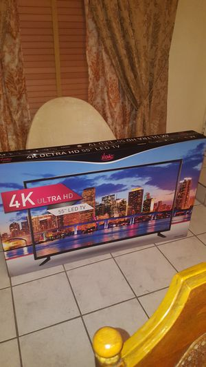 4k ultra 55 inch ultra H.D tv new in box never opened,will sell for 300.00 dollars for Sale in Miami Gardens, FL