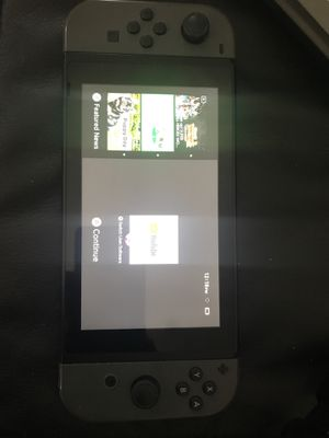 Nintendo switch comes with everything 120gb memory card and smash bros and Skyrim downloaded on system for Sale in MIDDLE CITY WEST, PA