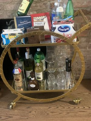 Bar Cart - Gold for Sale in New York, NY