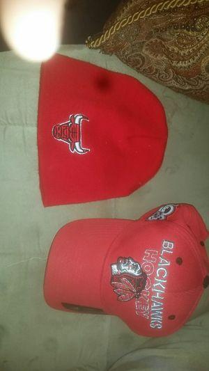 Blackhawks hat and bulls beanie for Sale in Pekin, IL