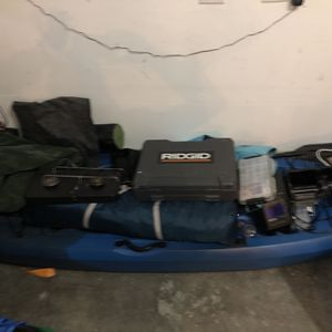 lifetime kayak with other assorted fishing/camping gear for Sale in Aloha, OR