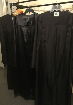 (3) BLACK GRADUATION GOWNS—-for HALLOWEEN PARTY or a GRADUATION!! for Sale in Portsmouth, VA