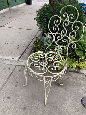 Antique iron French garden chair for Sale in Philadelphia, PA