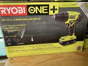 Brand new ryobi 18v 1/2 in 2 speed drill kit not negotiable for Sale in Plant City, FL