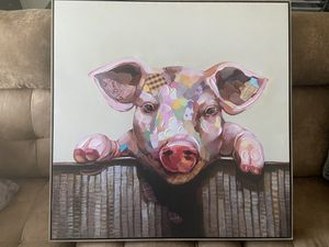 Pig Canvas for Sale in Washington, PA