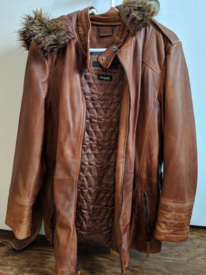 Brand new Wilson's leather jacket with hoody for Sale in San Diego, CA