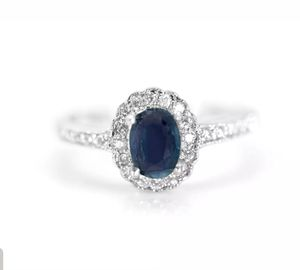 925 Sterling Silver Natural Oval Blue Sapphire Ring Size 8.5 for Sale in Vancouver, WA