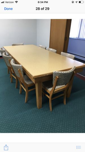 Table and chairs for conference room for Sale in Lansing, MI