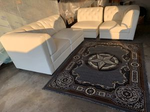 White Leather Couches for Sale in Dallas, TX