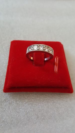 18k white gold filled ring size 5 for Sale in Staten Island, NY