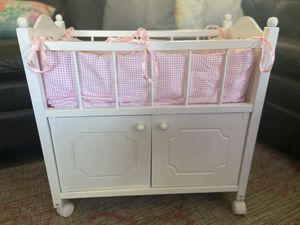Pottery Barn Doll rolling crib set for Sale in Plantation, FL