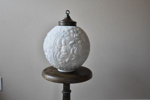Antique rose milk glass pendant light for Sale in Tualatin, OR