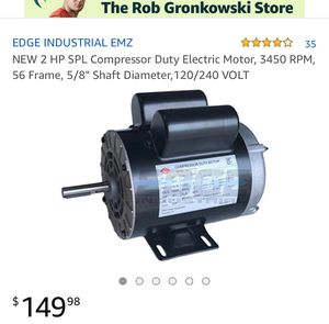 """2 HP SPL Compressor Duty Electronic Motor , 3450 RPM , 56 Frame ,5/8"""" shaft Diameter, 120/240volts - brand new in the box for Sale in Corona, CA"""