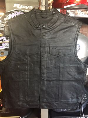 Club style leather vest motorcycle $80 and up for Sale in Whittier, CA