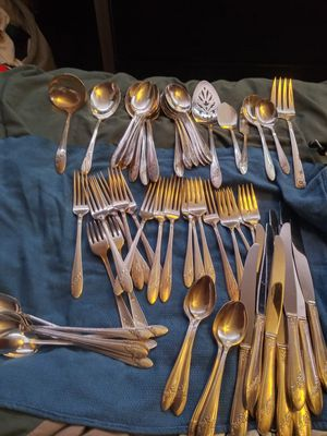 Antique 65 pc silver plated silverware for Sale in Littleton, CO