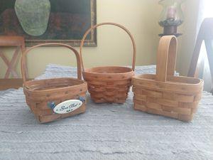 Longaberger set of 3 small vintage baskets for Sale in Menifee, CA