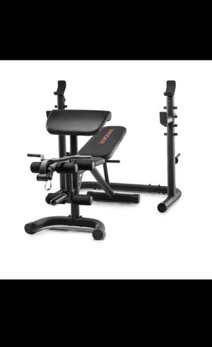 Weider XRS 20 Olympic Workout Bench With Independent Squat Rack And Preacher Pad for Sale in Silver Spring, MD