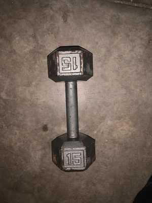 15 pound Dumbbell for Sale in Fontana, CA