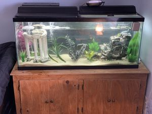 55 gallon fish tank (everything included) for Sale in Lacey Township, NJ