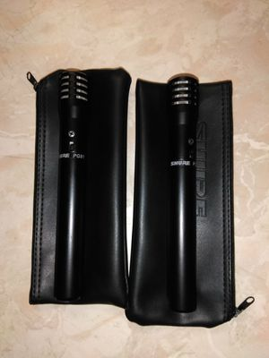 2 New PG 81 Shure Microphones $50 ea for Sale in La Verne, CA