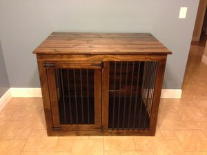 Dog kennel crate custom build to order, solid wood construction. for Sale in Brandon, FL
