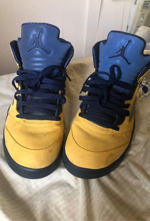 Michigan Blue Jordan 5s for Sale in Gordo, AL