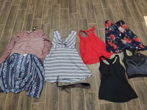 Women's size small lot of cute shirts, sports bra, dress and Michael Kors Belt for Sale in Buda, TX