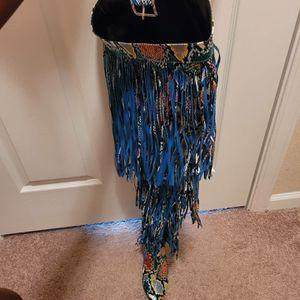 Thigh high snake print tassel boots for Sale in Jacksonville, FL