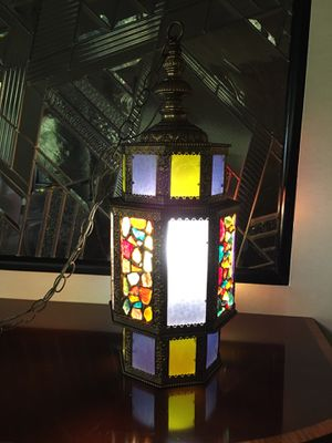 Vintage antique stained glass pendent for Sale in Elkins Park, PA