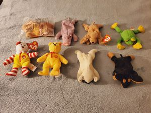 Lot Of 8 Collectable Beanie Baby Stuffed Animals for Sale in Sacramento, CA
