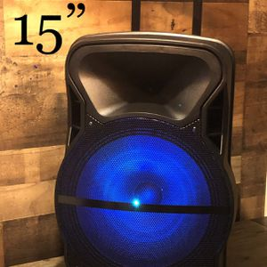 """15"""" Aek CyBer Bluetooth Trolley Speaker With Microphone 🎤🎶🔊 for Sale in Montebello, CA"""