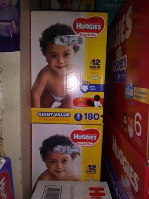 HuGGies size 3 $ 40 por caja oh cambio por formula Enfamil 12 0z for Sale in Los Angeles, CA