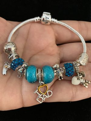 """Pandora style bracelet. bracelet size: 7"""" in. 18cm. If you need another size of the bracelet, ask me I can change it. for Sale in Fullerton, CA"""