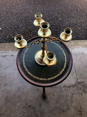 Baldwin Brothers Solid Brass 5 Cup Candelabra for Sale in Keizer, OR