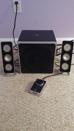 Logitech Z-4 Speaker System with Subwoofer for Sale in Lake Worth, FL