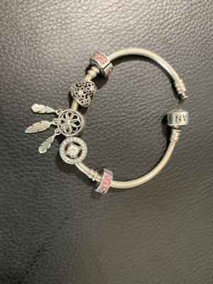 Pandora bracelet 5 charms for Sale in Tampa, FL