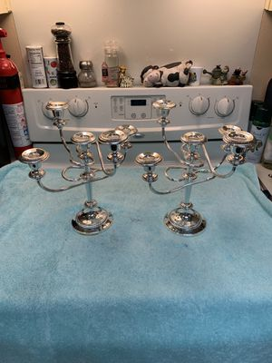 Silver plated made in England candelabras for Sale in Boca Raton, FL