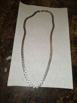 "24"" Silver Cuban Link Chain for Sale in Kennewick, WA"