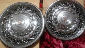 2 forteen in original cattalac spoke hubcaps for Sale in DEVORE HGHTS, CA