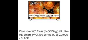 65 Panasonic 4k HD ultra smart TV for Sale in Dallas, TX
