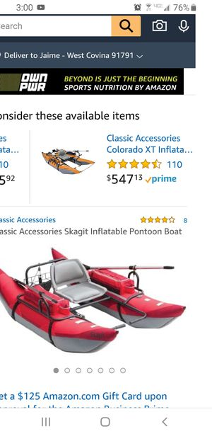 Skagit Inflatable Pontoon Boat for Sale in West Covina, CA