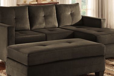 Reversible Sofa Chaise With Matching Ottoman for Sale in Hayward,  CA